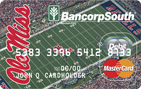 BANCORP SOUTH DEBIT MASTERCARD OLE MISS AFFINITY